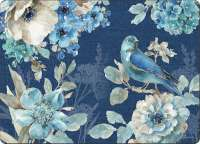* 4 CorkBacked Hardboard Table-Placemats Wildlife Blue Birds