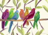 4 CorkBacked Hardboard Placemats Birds Flock Together