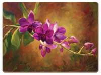 4 CorkBacked Hardboard Placemats Purple Orchid
