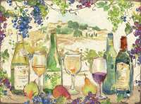 4 CorkBacked Hardboard Wine Theme Table-Placemats