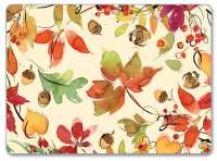 2 Autumn Leaves CorkBack Hardboard Table-Placemats Harvest