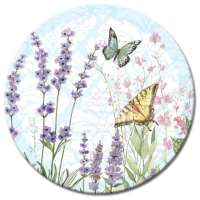 An Herb Garden Floral LazySusan Turntables - Tempered Glass