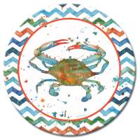 Blue Lagoon Crab/Coastal/Beach LazySusan Turntables