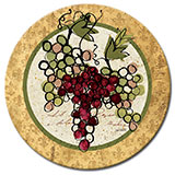 A Wine/Grapes Lazysusan Wine Not - Tempered Glass