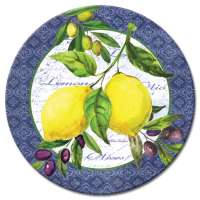 * A Lemons And Olives Fruit Decor Glass LazySusan Turntables