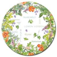 A Glass LazySusan Turntables Floral Cullinary Herbs