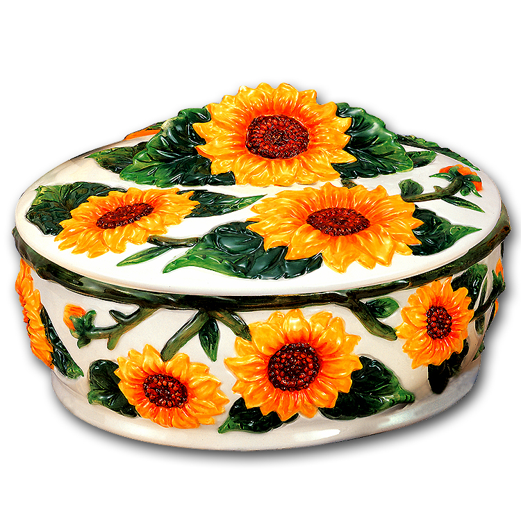 * Ceramic Tortilla Keeper - Sunflower