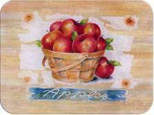 * Country Style Apple Basket Glass Cuttingboard Serving Tray