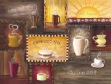 Coffee Cafe Theme Tempered Glass Cuttingboard/Server/Trivet
