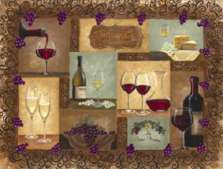 A Wine Cellar Wine/Grape Glass Cuttingboard/Server/Trivet