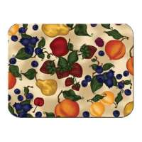 * A Tuscan Fruit Apple-Pear-Grape Glass Cuttingboard