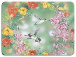 ~ Country Hummingbird Wildlife Glass Cuttingboard/Server/Trivet
