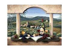 * A Tuscan Wine Country Grape Glass Cuttingboard/Server/Trivet