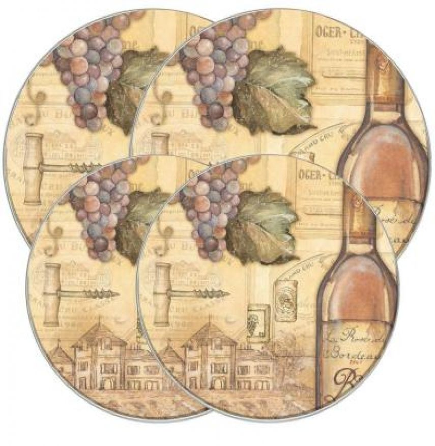 Vineyard Round Wine Bottle-Grape Burner Covers