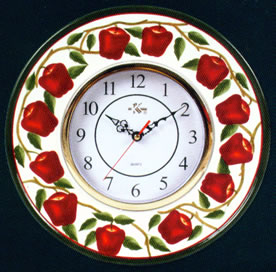 * Ceramic Kitchen Wallclock - New Apple