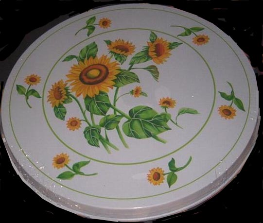 `Burner Covers Round Metal  Wild Sunflower