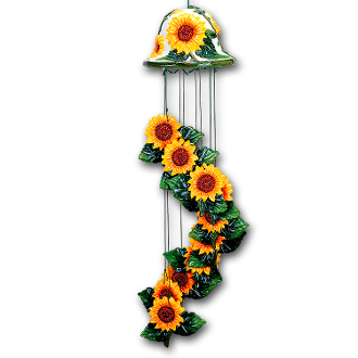 ~ Sunflower Ceramic Windchimes