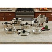 18pc Steam Control Stainless Steel Cookware