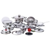 * 22pc 12-Element Ss Cookware St