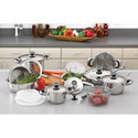 22pc Stainless Steel Cookware Set
