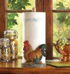 Country Farm Rooster Paper Towel Holder