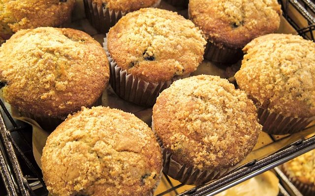 Gluten-Free Vegan Blueberry Oat Muffins